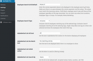 How to create tag cloud search using employee names in Employee Spotlight Pro WordPress Plugin